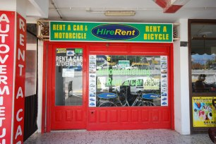 Rent a car and bicycle