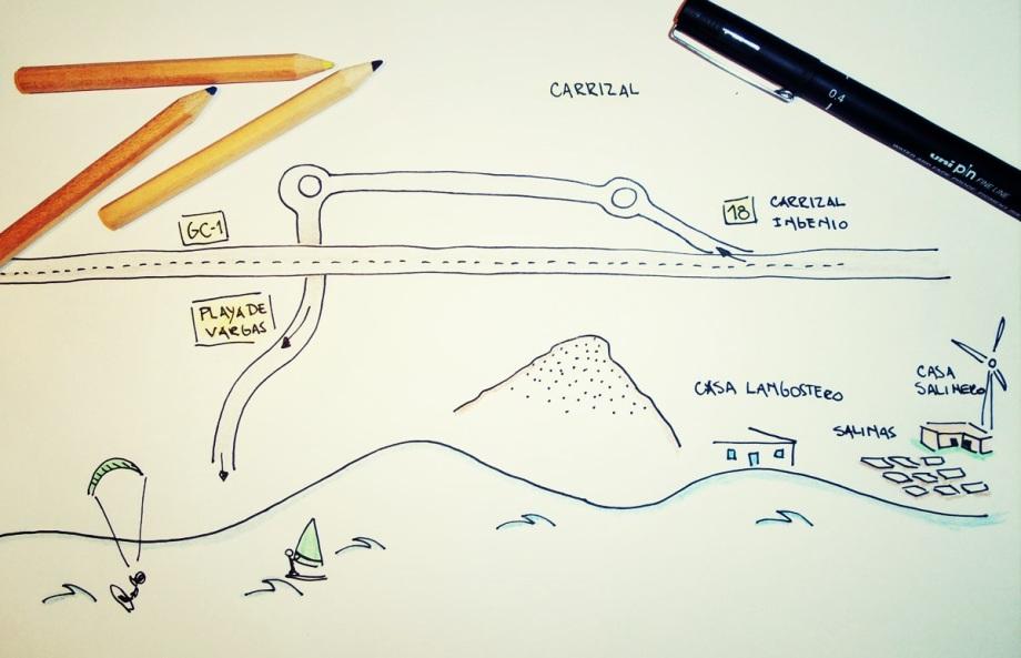 mapa playa vargas