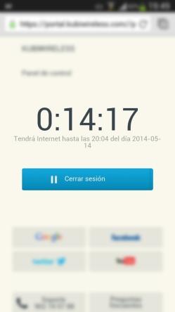 15 minutes FREE WiFi!